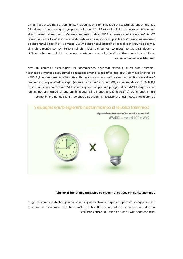 Comment calculer la consommation d'une LED ?